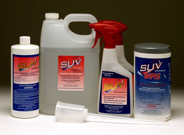 SUV disinfectant, cleaner