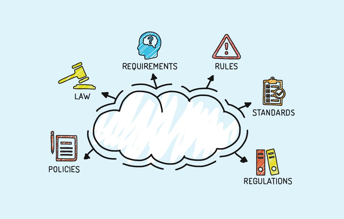 Compliance cloud illustration