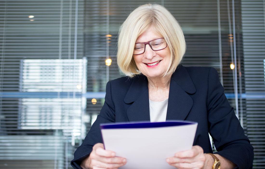 HR representative reviews file